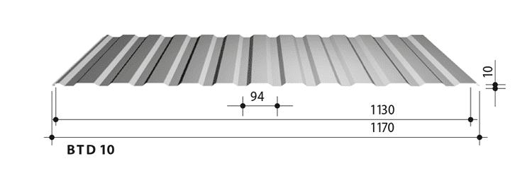blachy trapezowe balex metal BTD10