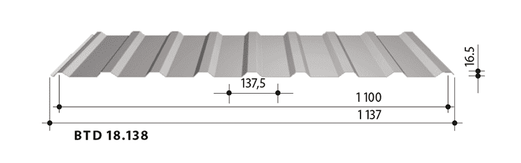 blachy trapezowe balex metal BTD18.138