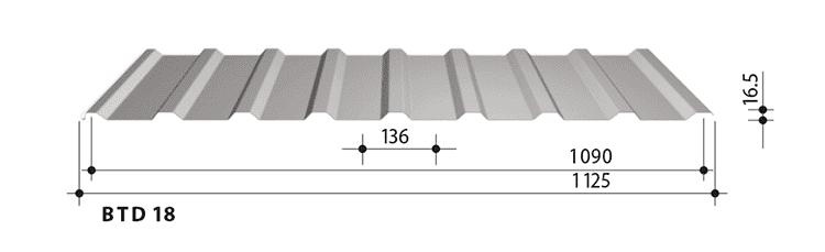 blachy trapezowe balex metal BTD18
