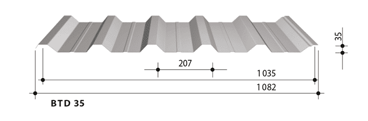 blachy trapezowe balex metal BTD35