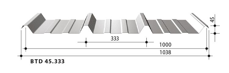 blachy trapezowe balex metal BTD45.333
