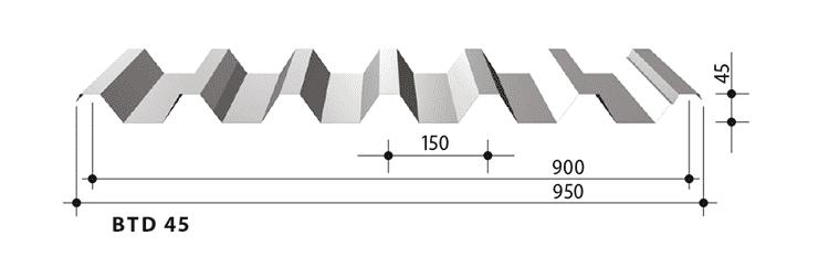 blachy trapezowe balex metal BTD45