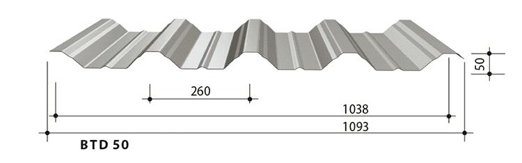 blachy trapezowe balex metal BTD50