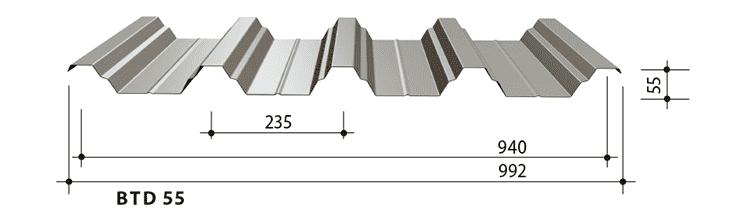 blachy trapezowe balex metal BTD55