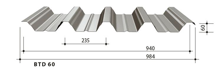 blachy trapezowe balex metal BTD60