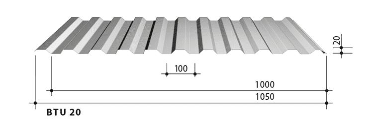 blachy trapezowe balex metal BTU20