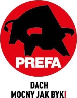 PREFA Logo Claim zweizeilig schwarz PL